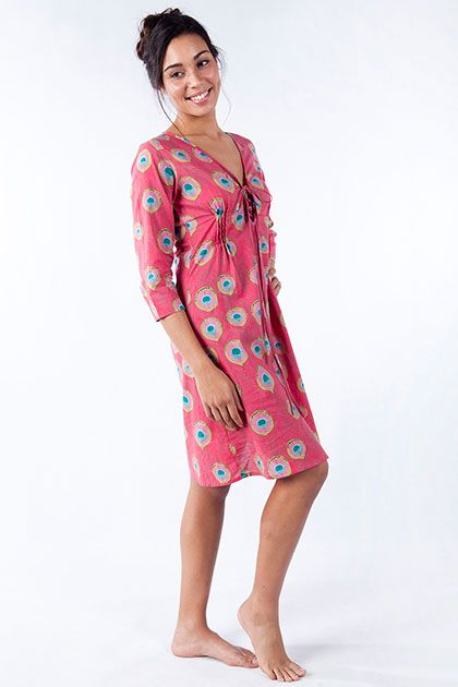 In order to be irreplaceable, one must always be different.  Show your true colours in our all time favourite, the Desert Dress in Peacock Rose.