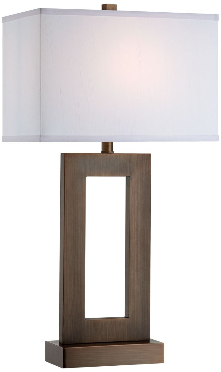 Imax bf carey table lamp hautelook - Ero Lamps Many Great Lampsmodern Bronze Open Rectangle Shade Table Lamp Eurostylelighting Com