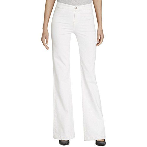 New Trending Denim: J Brand Womens High Rise Tailored Flare Jeans, Blanc, 26. J Brand Women's High Rise Tailored Flare Jeans, Blanc, 26   Special Offer: $79.99      166 Reviews A flared, high-waisted cut brings a retro look to these J Brand jeans. 4-pocket styling. Button closure and zip fly.Lightweight stretch denim90% cotton/8% polyester/2% elastaneWash cold