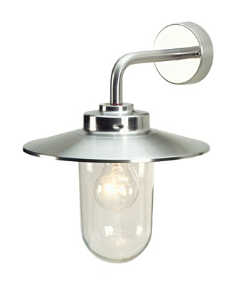 A traditional outdoor seafarer wall light in steel and clear glass. Water-resistant for outdoor or indoor use. £39.95.