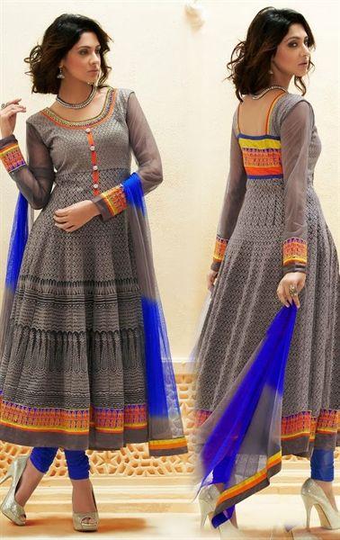 Picture of Exclusive Grey Color Designer Salwar Kameez