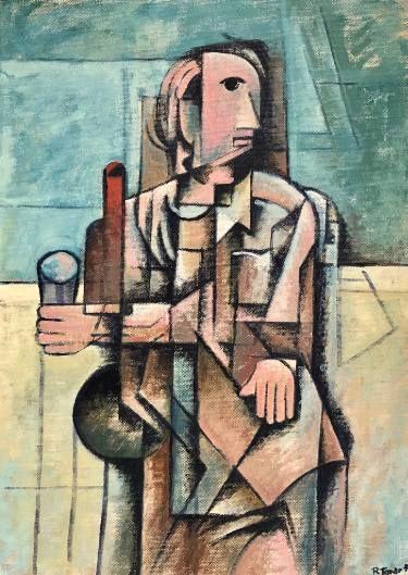 "Saatchi Art Artist Ricard J Tovar; Painting, ""Wine drinker (Bevedor de vi)"" #art"