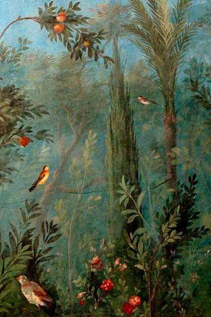 Villa Livia Rome - Wall Murals Ideas & Inspiration dates from 20-30 B.C.  (houseandgarden.co.uk)