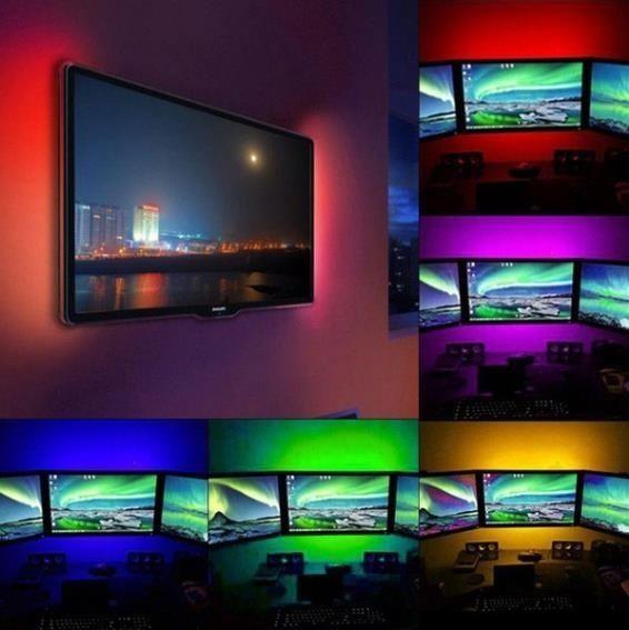 RGB remote control USB 1m LED strip light Waterproof Tape LED Background Lamp