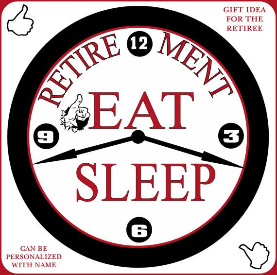 Senior Retirement Wall Decor Clock Gift Idea Can Be Personalized With A  Name. Your Choice · Simply SouthernWall ...