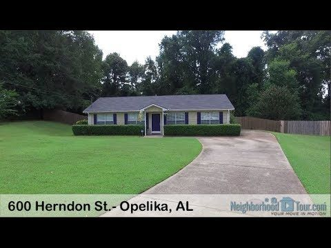600 Herndon St.- Opelika, AL (Tori Beth Thompson) Cul-de-sac lot! One Level 3 Bedroom 2 Bath Home in Westside Subdivision. Split Bedroom Floor plan. Living Room/ Dining Room w i t h Wood Laminate Floors. Good Size Eat In Kitchen. Master Bedroom with Ceiling Fan, Walk-In Closet, and Private Bath. Bedroom 2 and Bedroom 3 Have Ceiling Fans. Outside Storage Room. Back Patio/ Deck, Storage Building. Fenced Back Yard. Seller is offering a One Year Old Republic Warranty.
