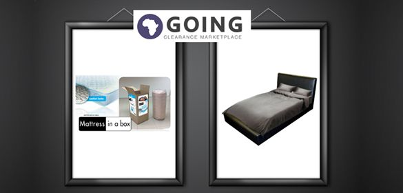 A good night's rest makes for a great day ahead. Don't take any chances when it comes to selecting the best bed – Going is offering Double and Queen bases as well as mattresses – at prices that won't keep you up at night!  http://www.going.co.za/black-queen-bed-base - Black Queen Bed Base  http://www.going.co.za/black-double-bed-base - Black Double Bed Base http://www.going.co.za/mattress-in-a-box-double - Double Mattress  http://www.going.co.za/mattress-in-a-box-queen - Queen Mattress