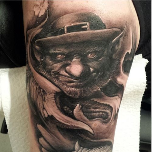 249 best black grey art tattoos images on pinterest for Luck of the irish tattoos