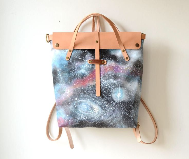 Excited to share the latest addition to my #etsy shop: Galaxy Painted Backpack, Convertible Backpack Purse, Womens Mens Backpack, Canvas Leather Tote Bag, Unique Gift, Hand Painted Nebula Tote #leathercanvastote #womensbackpack #giftforwomen #mensbackpack #autumnfall #springsummer #christmas #backtoschool #bagsandpurses