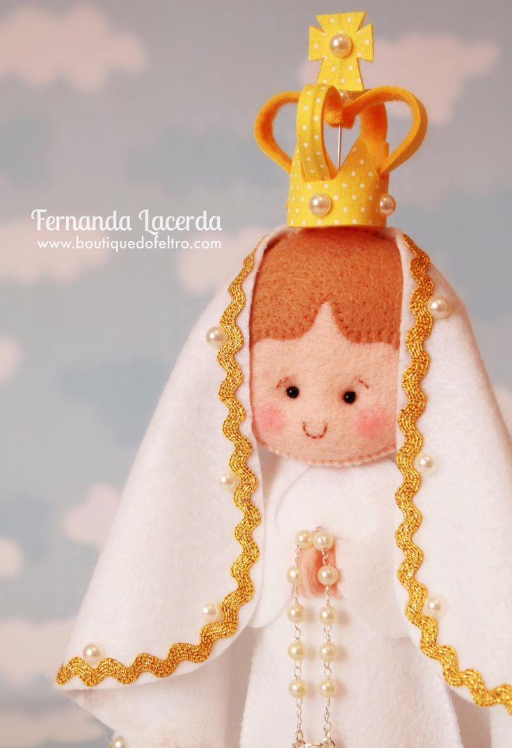 Nossa Senhora de Fátima em Feltro Fernanda Lacerda   www.boutiquedofeltro.com