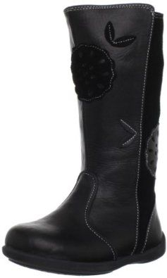 """See Kai Run Lucy Boot (Toddler/Little Kid) See Kai Run. $60.00. Boot opening measures approximately 10."""" around. leather. Rubber sole. Shaft measures approximately 9."""" from arch"""