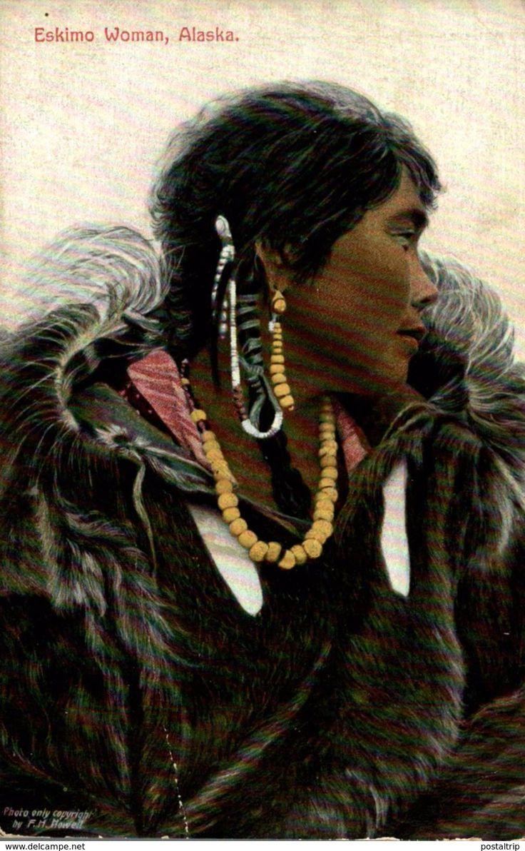 POSTCARD / POSTAL ESKIMO WOMAN, ALASKA #eskimo #woman #esquimal #postcard #postalantigua #colector #coleccionismo @postaltrip