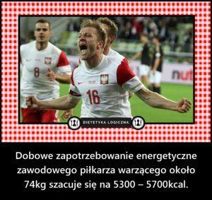 Dobowe zapotrzebowanie energetyczne zawodowego piłkarza