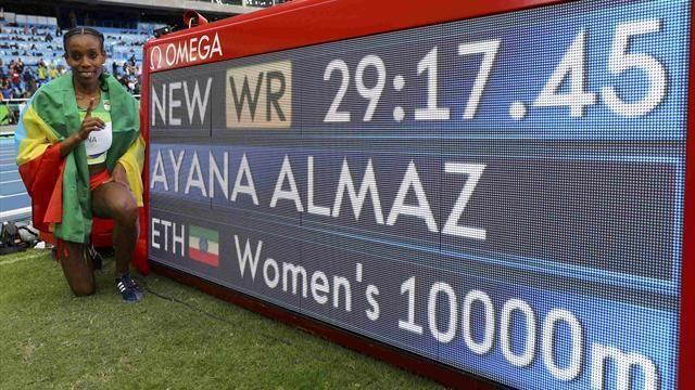 Olympics Rio 2016: Almaz Ayana destroys 10,000m world record by 14 seconds - Rio 2016 - Athletics - Eurosport