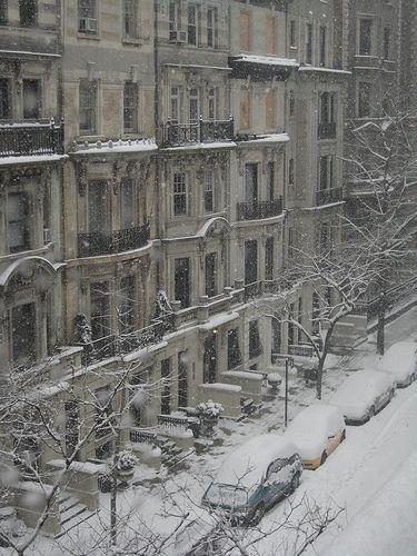 NYC. Manhattan.  Upper West Side in winter