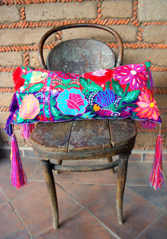 Mexican Embroidered Pillow