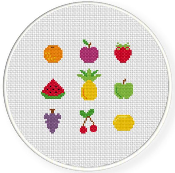 FREE for Nov 18th 2014 Only - Tiny Fruits Cross Stitch Pattern get it at DailyCrossStitch.com