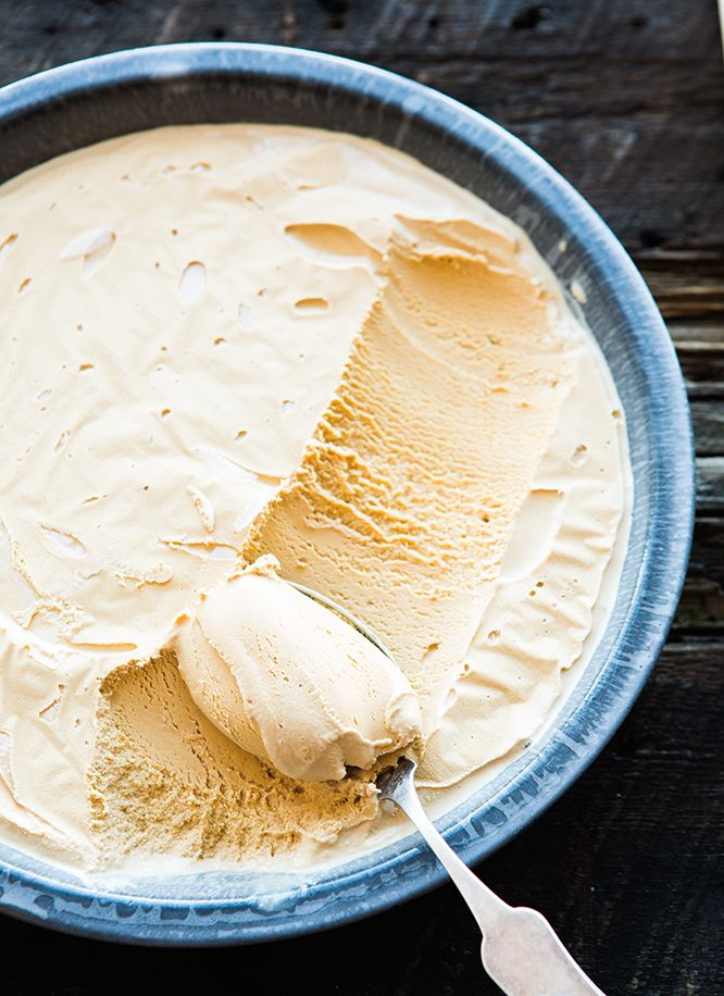 How to make the perfect Salted Caramel Ice Cream: Cook the sugar slowly and watch it carefully, as it can burn quickly. A sprinkle of salt gives it even more impact.