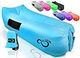 #8: Inflatable Air Lounger Lounge Bag Chair -Headrest 2 Pockets 700 Gauge Liner 420D Ripstop Securing Loop & Stake - Extra Large Travel Bag- For Beach Or In The Pool 9 Long & Holds 500 LBS #sleepingbags #campbedding #camping #outdoorliving #hiking #greatoutdoors