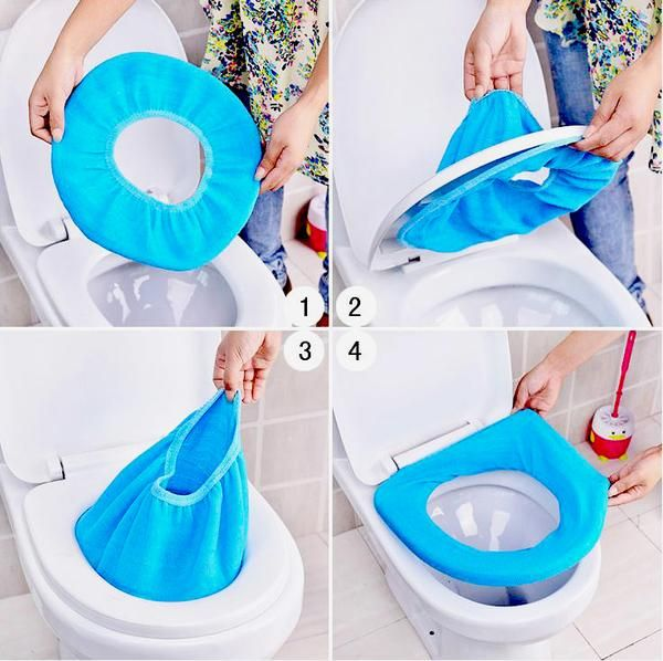 Toilet Seat Cloth Cover Warm Toilet Seat Covers Toilet Mat