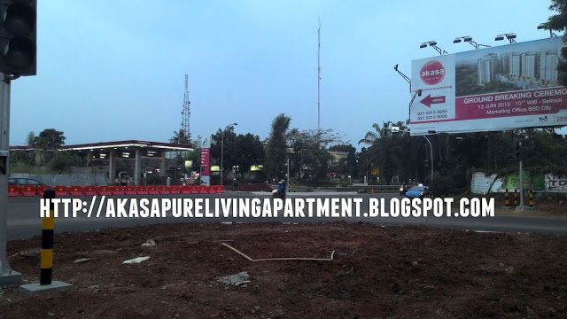 Tanah lokasi apartemen Akasa BSD Pure Living
