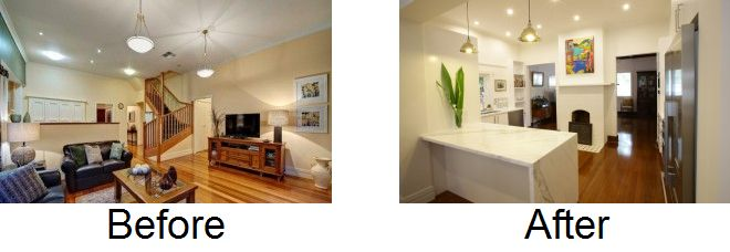 Look at this amazing before and after. Californian bungalow kitchen makeover transforms the living spaces in the home. Read more here:  http://www.smarterkitchensmelbourne.com.au/californian-bungalow-kitchen-design-melbourne/