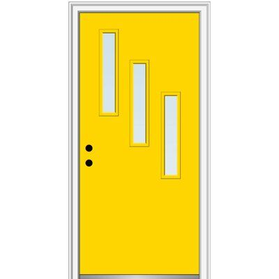 Verona Home Design Spotlight Fiberglass Prehung Front Entry Door Wayfair Front Entry Doors Single Entry Doors Entry Doors