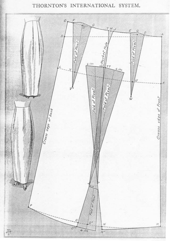 peg-top skirt, but this time with large pleats at the top to create a loose effect around the hips