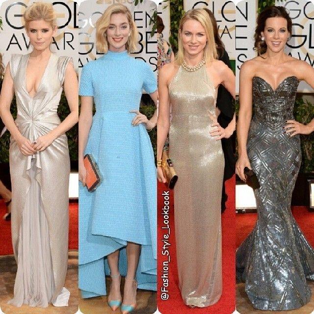 FASHION FROM GOLDEN GLOBE AWARDS 2014#katemara #naomiwatts #katebeckinsale #golden #GoldenGlobe #blue #neon #mint #dress #metallic #metallicdress #metallicgown #silver #gold #golden #grey #hollywood #diana #princessdiana #movie #model #fashion #style... - Celebrity Fashion