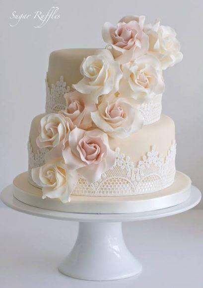 Hochzeitstorte Idee; Empfohlener Kuchen: Zuckerrüschen   – Wedding Cakes