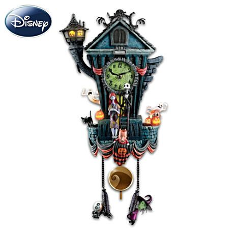 "Tim Burton's ""The Nightmare Before Christmas"" Cuckoo Clock. If only I had the money. I'd buy this for my beloved son, as this is his all-time favorite movie."