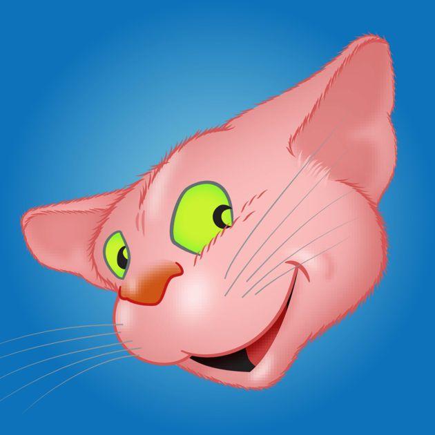 #NEW #iOS #APP Pink Cat emoji - Yann Le Roux