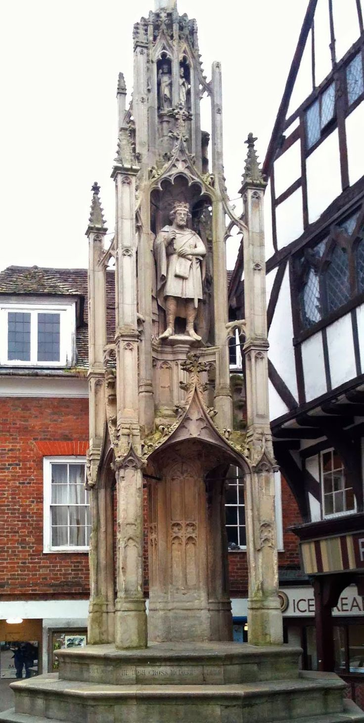 15th century Buttercross in Winchester, Hampshire, England