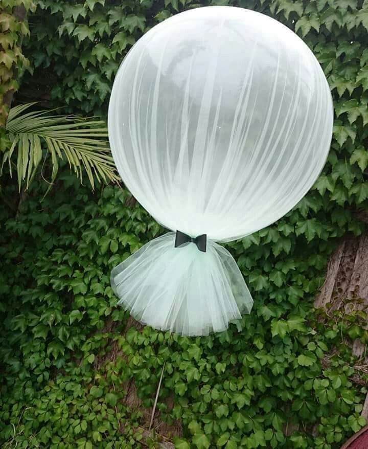 Balloons and Tulle, LOVE THIS IDEA!!                                                                                                                                                                                 More