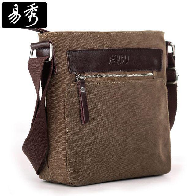 Eshow bolsa hombre hombres ocasionales Messenger Bags Small Cross body Bags para hombre BFK010741