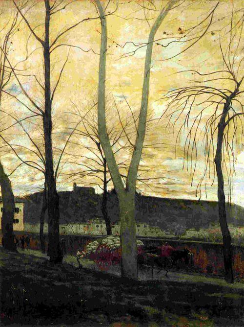 soircharmant:    Telemaco Signorini,  Il lavandaio alla Porta alla Croce, 1872  Olio su tela
