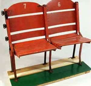 Old boston garden chairs. Bucket list item checked off - attending basketball game in the original Garden before it was torn down. Thank the stars above made it to a game in the Old Garden's last season. Wahoooo!