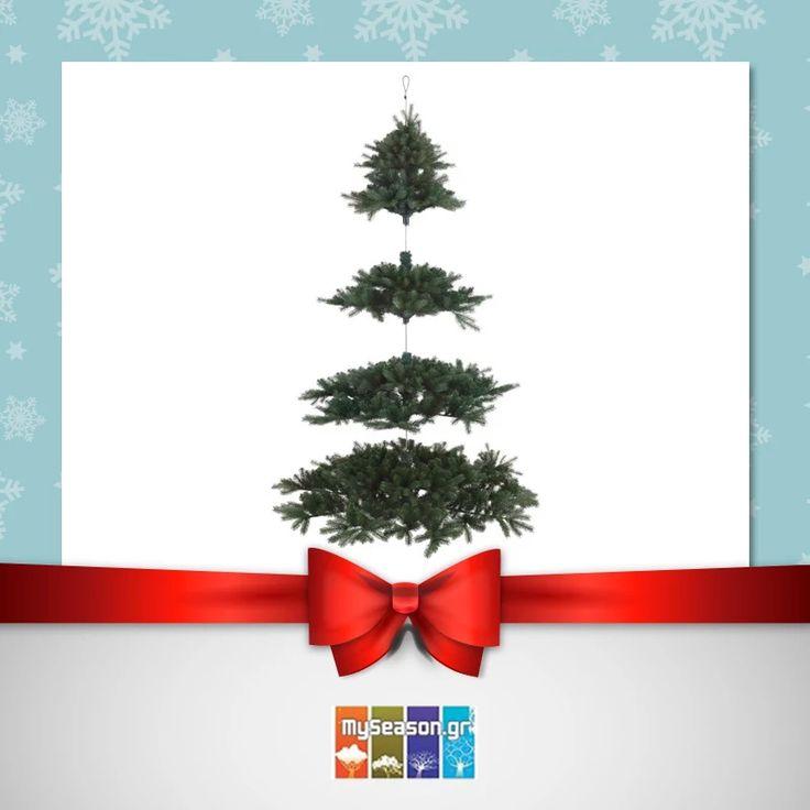 Κρεμαστό Χριστουγεννιάτικο #δέντρο, ιδανικό για επαγγελματικούς χώρους, αλλά και για όσους θέλουν να πρωτοτυπήσουν τα φετινά #Χριστούγεννα Μόνο από το #MySeason!  https://goo.gl/ikCvUr  #christmas #christmas2016 #christmasshopping #christmasdecor #xmasdecor #christmastree #xmastree #holiday #festiveseason