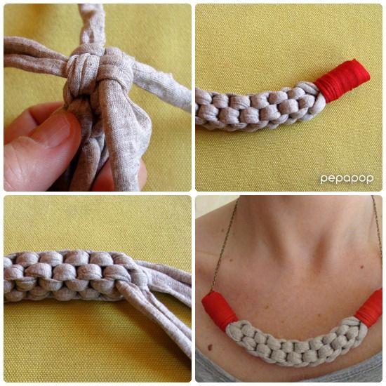 DIY: Collar de trapillo y técnica escubidú