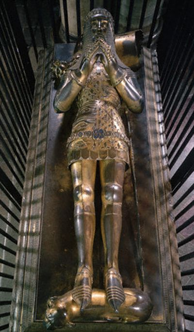 Tomb effigy of Edward the Black Prince (1330-1376), Canterbury Cathedral
