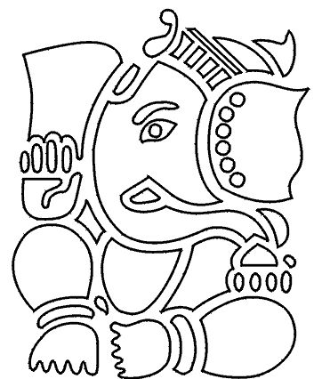 Ganesha art | Ganesh Art Stencil this onto a t-Shirt then pentangle within the boarders.