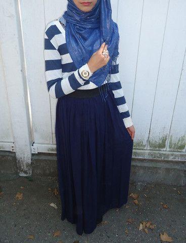 Navy Blue Maxi Skirt – Delicate Hijabi