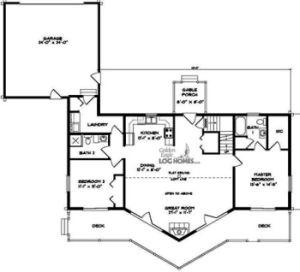 Ranch Style Log Cabin Floor Plans Floor Plan For First Floor