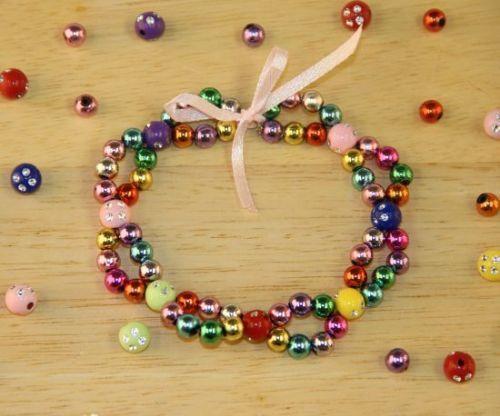 Lovely jewellery making idea - looped bracelet with metallic beads - it's very easy :)