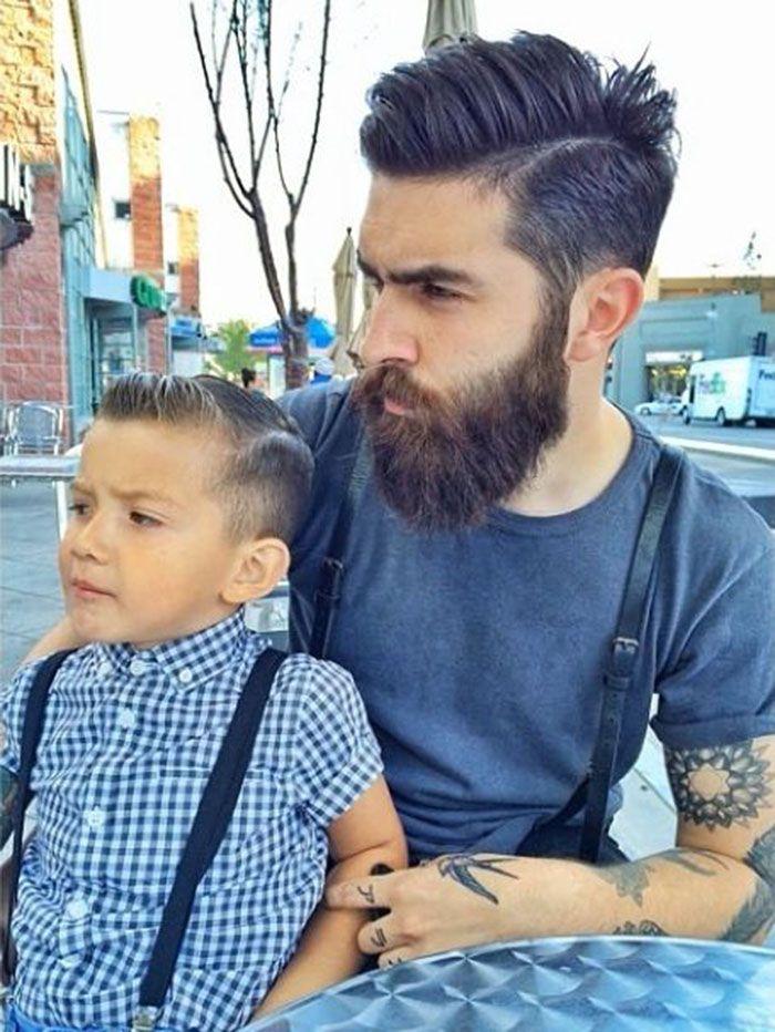 Lumbersexual de pai pra filho.
