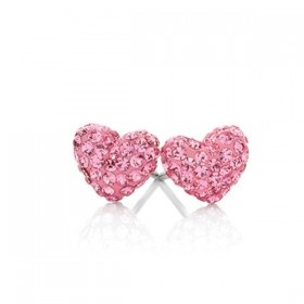 Two hearts beating -  Pretty in pink 8mm Stud Earrings  ...   AUD $39.  Beautiful gifts of love ... from our wish book of love ... at Loloma. #valentine #love #gift #loloma #townsville