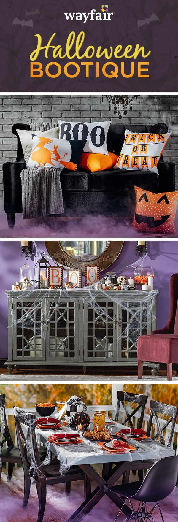 Create a spooky Halloween feel both inside and outside your home with festive and stylish decor, from inflatable ghosts to black and orange wreaths. Visit Wayfair and sign up today to get access to exclusive deals everyday up to 70% off. Free shipping on all orders over $49. Halloween sale ends 10/31/15.