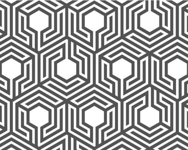 Labyrinthine honeycomb pattern