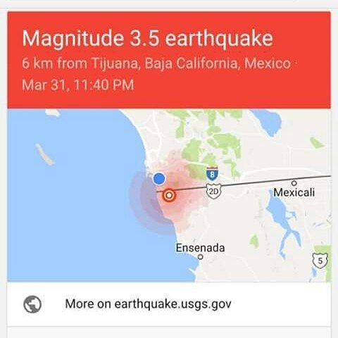 #temblor #earthquake #sandiego #tijuana #tijuanalife #sandiego #sandiegoconnection #sdlocals #sandiegolocals - posted by ricardo z https://www.instagram.com/elrickavelli. See more post on San Diego at http://sdconnection.com