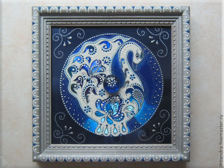 Купить Лебёдушка Панно с витражной росписью на диске - Витражная роспись, витражное панно, витражная картина